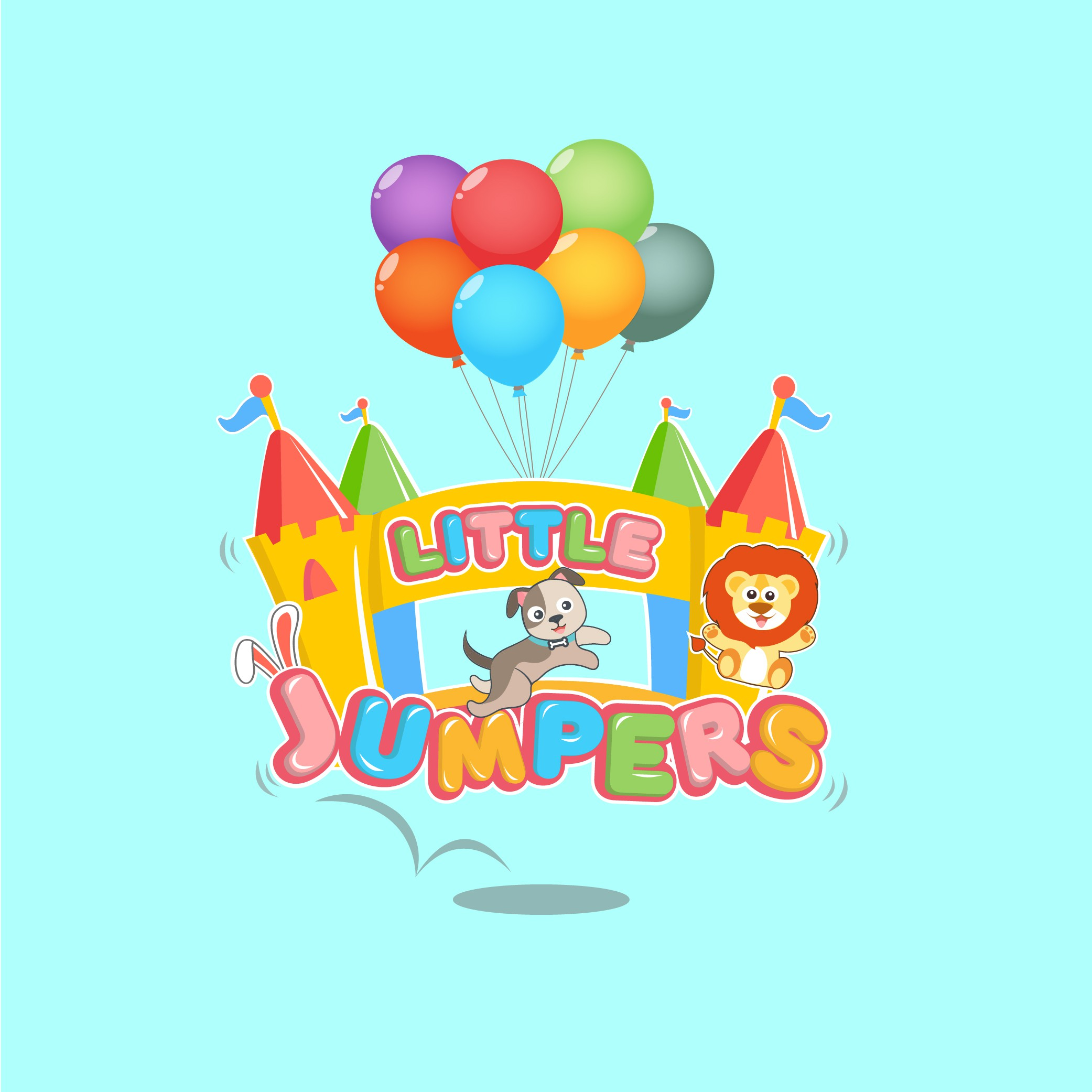 Jumping castle hire business needs a new cute logo