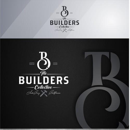 Retro logo concept  for construction company