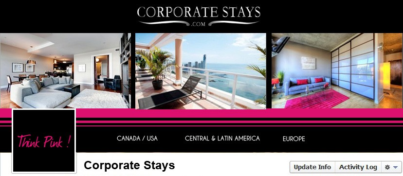 Original Facebook Timeline for CEO of CorporateStays.com