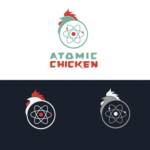 Awesome logo concept for Atomic Chicken
