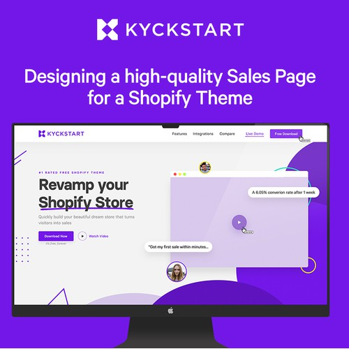 Sales Page Design for Shopify Theme