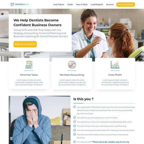 UI UX Design for Dentist Website