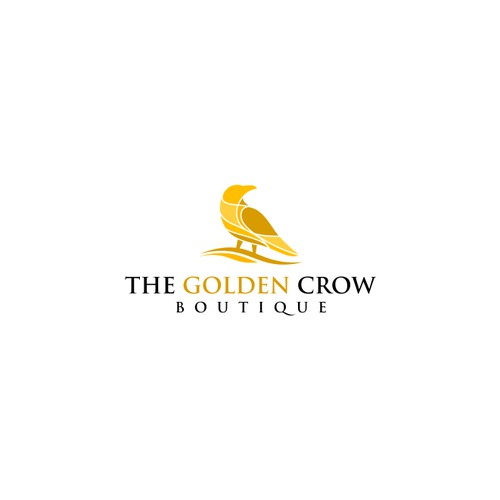 Bold Logo Concept for The Golden Crow Boutique