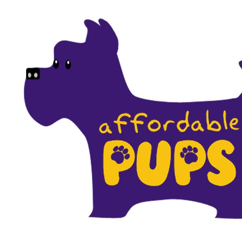 Affordable Pups Site Logo - fun logo for teacup puppies website