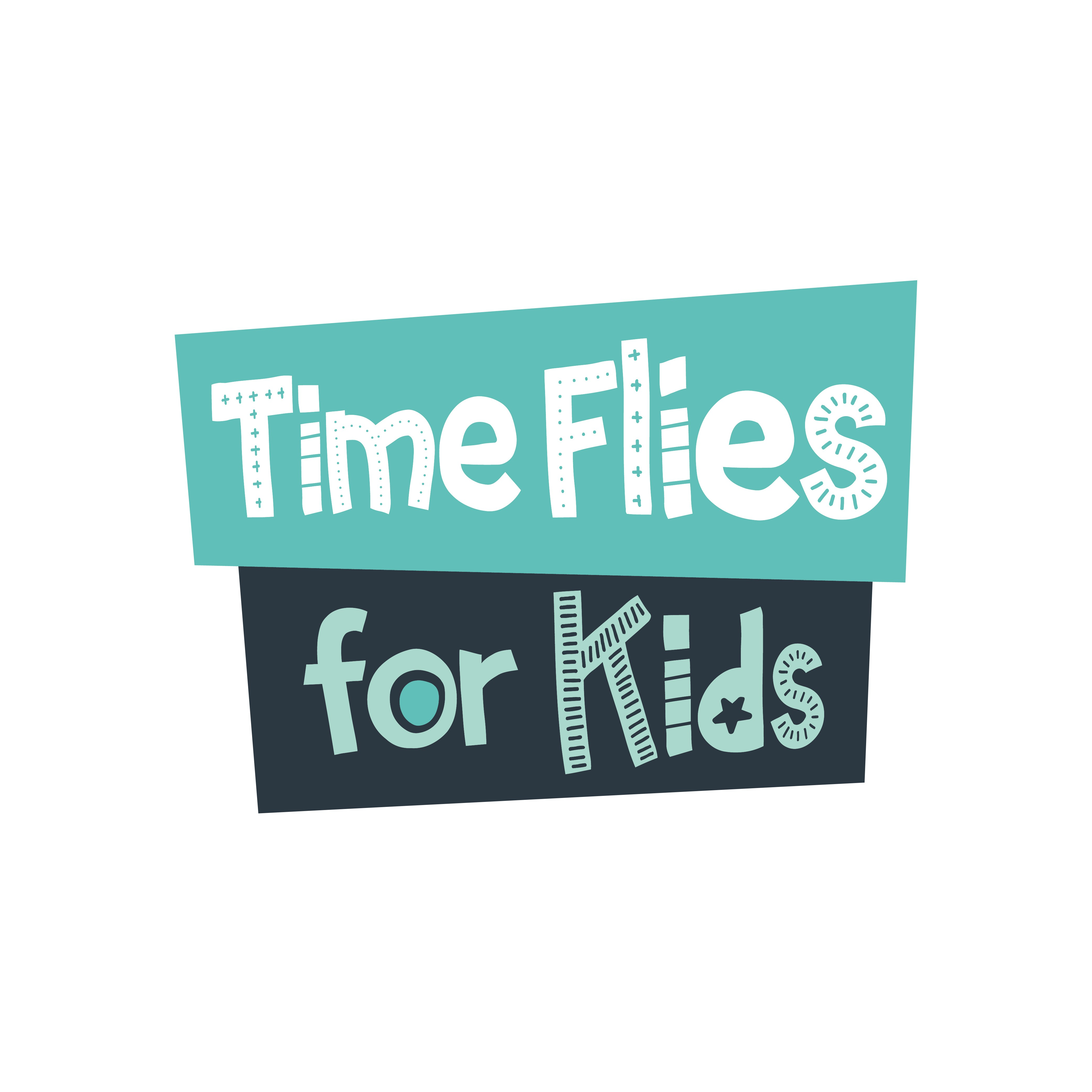 Design a fun and creative logo for Time Flies for Kids