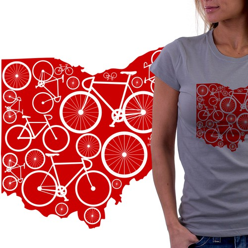 Looking for a creative take on a Bike Ohio t-shirt
