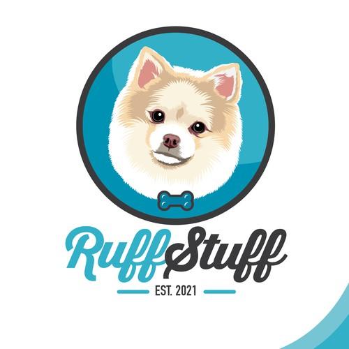Cute Dog treats logo