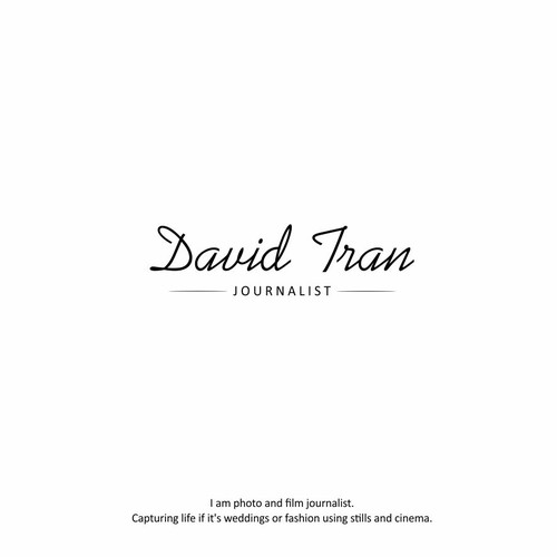 luxury logo for David Tran
