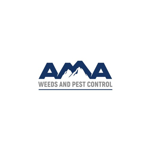 AMA weeds and pest control logo design