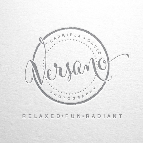 Create a modern and stylish logo for a Husband and Wife Photography Studio.