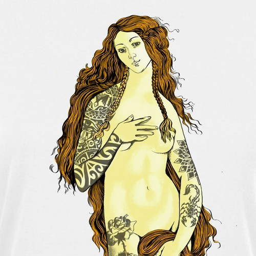 Female with Tattoos for Poster/Tee Shirts