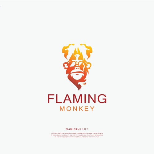 Logo concept For Flaming monkey