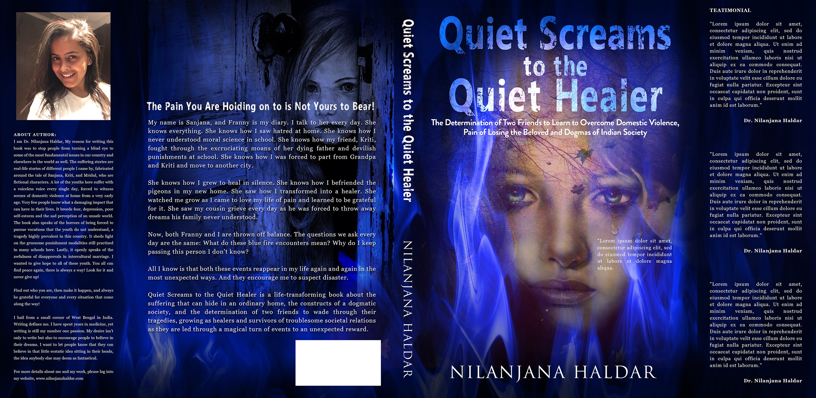 A Book Cover Design for A Young Girl's Suffering