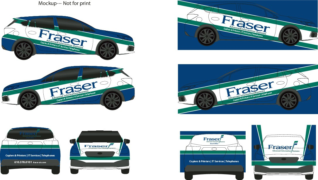 Resize of a car wrap for a new car