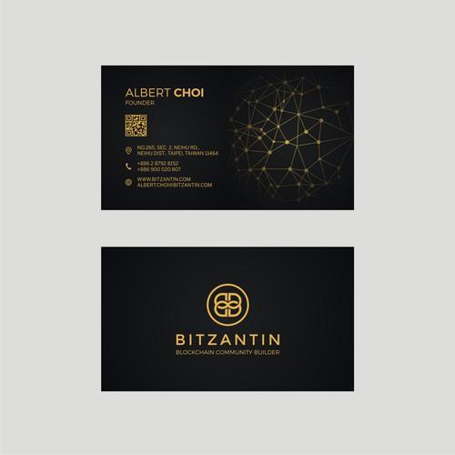 Business card for BITZANTIN