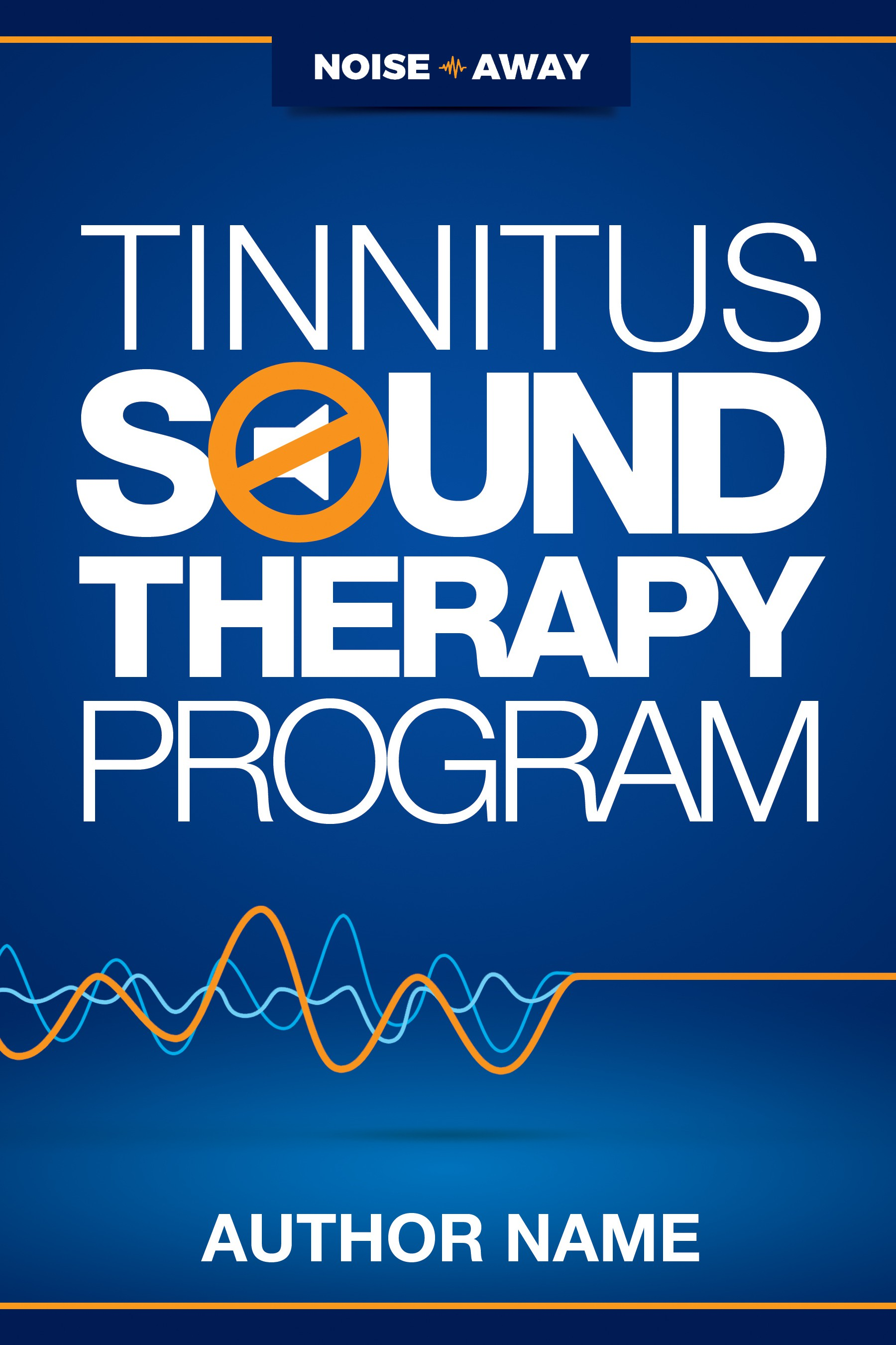 Create a book cover for a 30-day health program about Tinnitus (hearing condition)