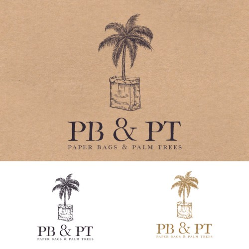 Logo for Paper Bags & Palm Trees