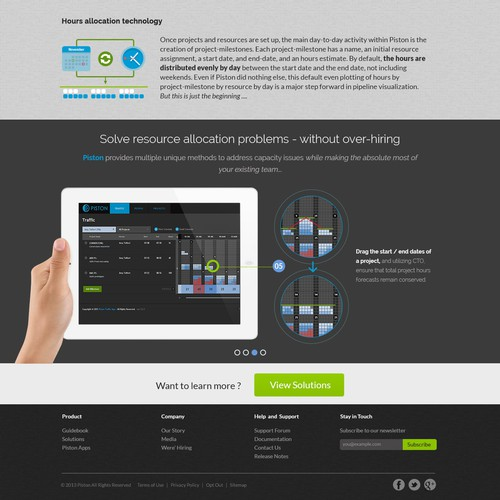 Web application front-end brochure site (Piston)