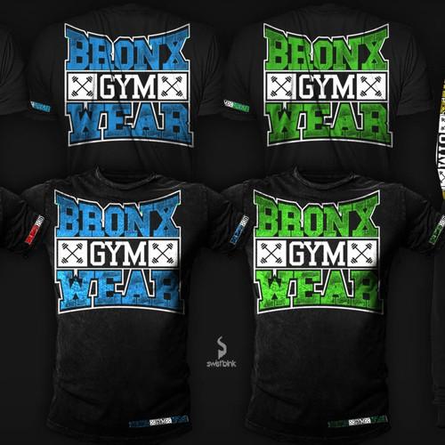 Create a funky logo for BRONX GYM WEAR