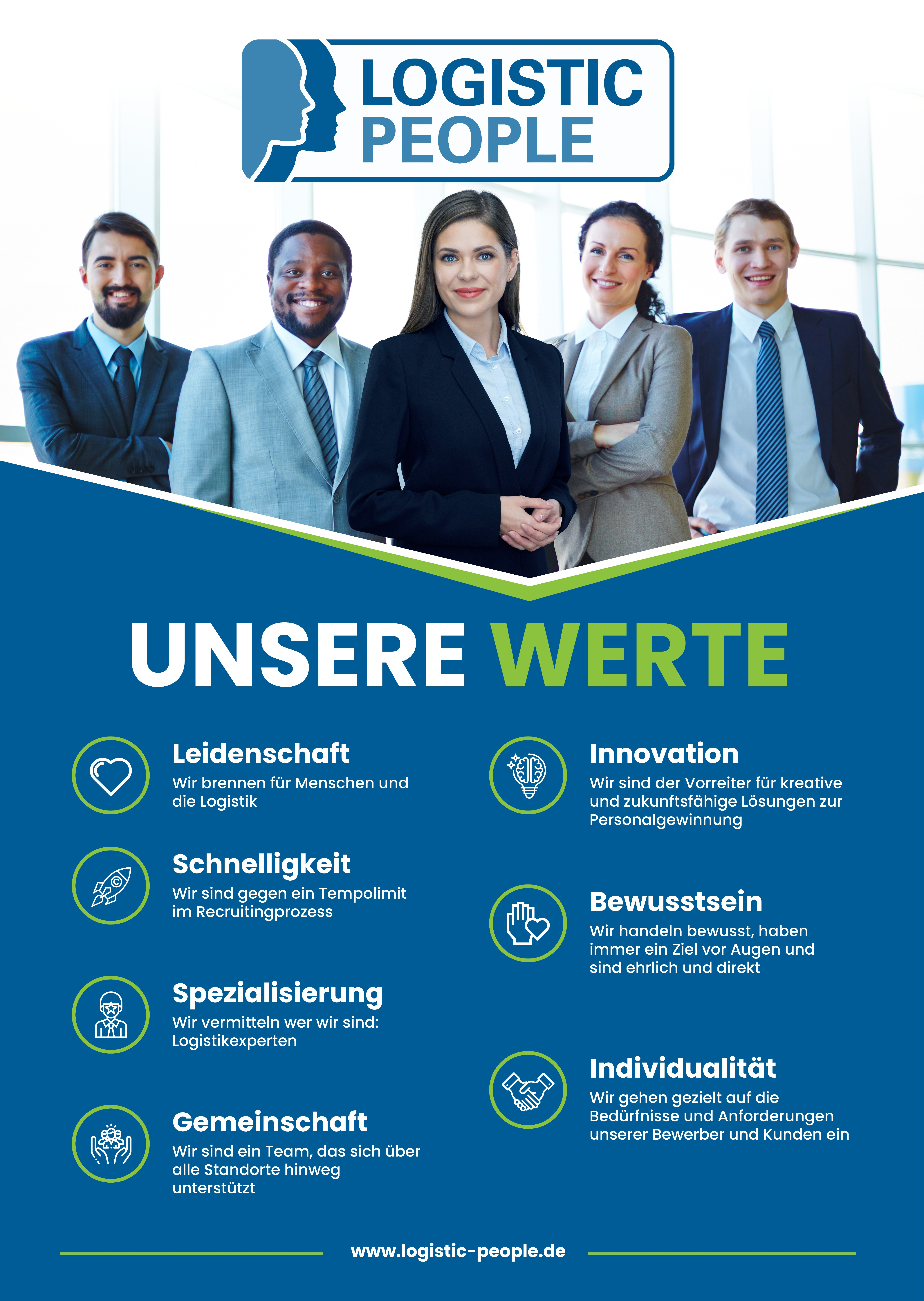 Poster about Company Values for Recruiting staff Company