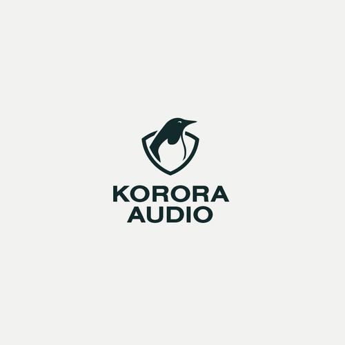 Minimal logo proposal for audio company
