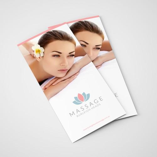 Brochure for massage salon