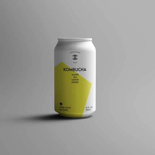 Can label design for kambucha tea