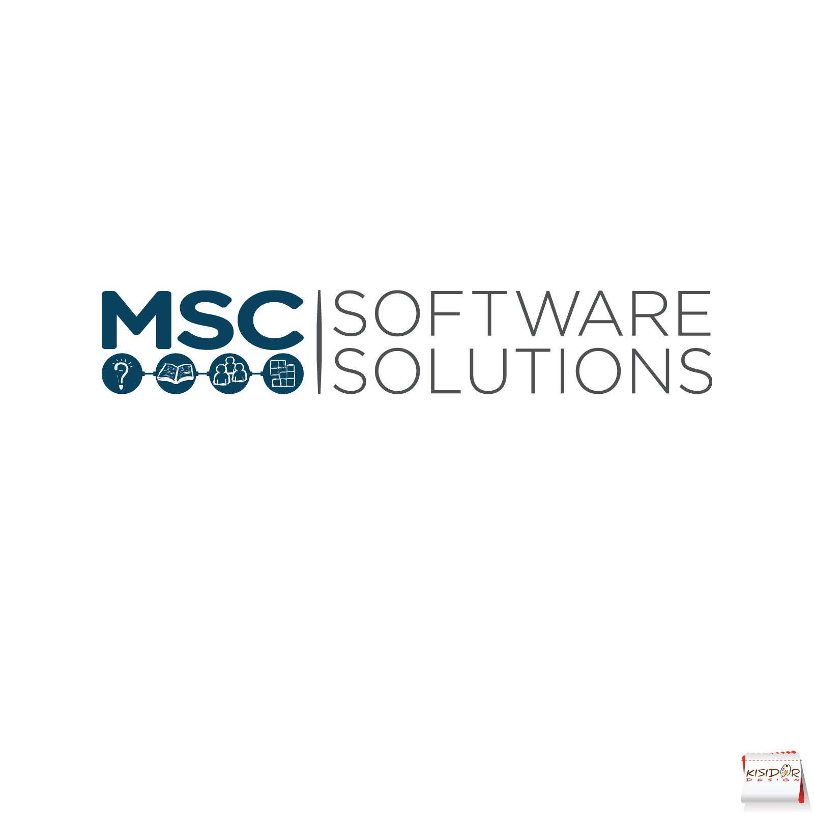 Create a clean, smart logo for MSC Software Solutions