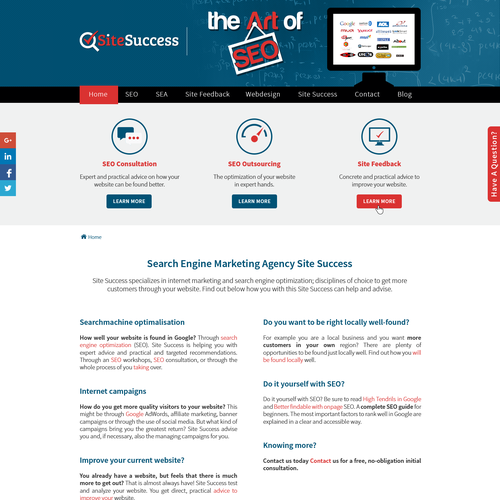 Create homepage design for Search Engine Marketing Expert
