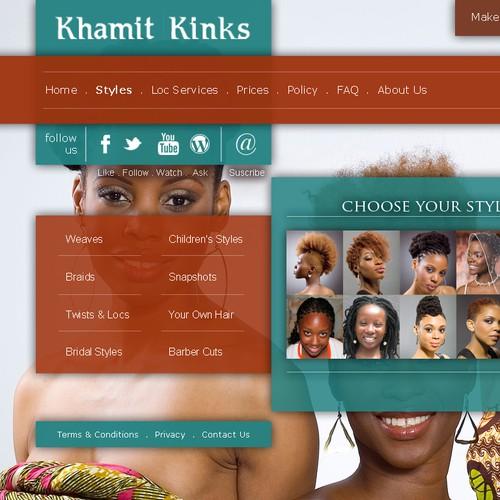 Khamit Kinks Natural Hair Care Salon Website Make-over