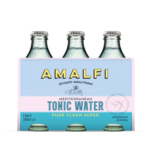 Vintage packaging design for italian tonic water.