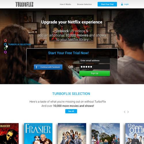 TurboFlix Homepage