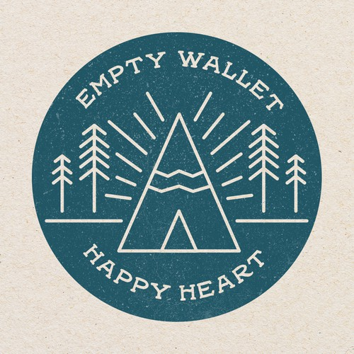 Empty Wallet Happy Heart Logo