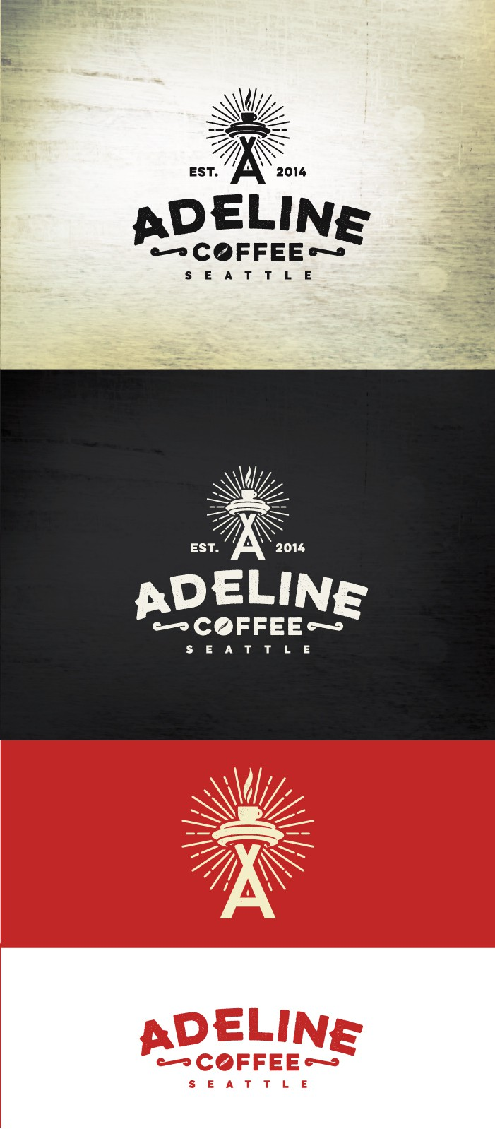 Create a memorable logo for Adeline Coffee
