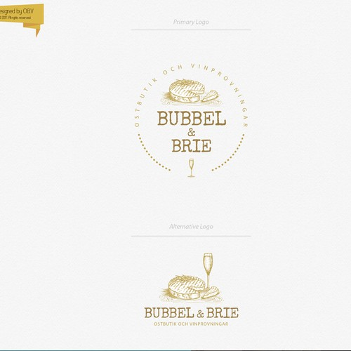 Logo and brand identity for artisanal cheeses