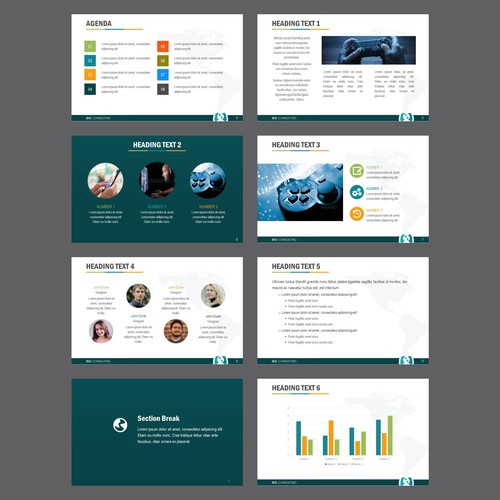 """Powepoimt template design for """"Video Game Consulting Company"""""""