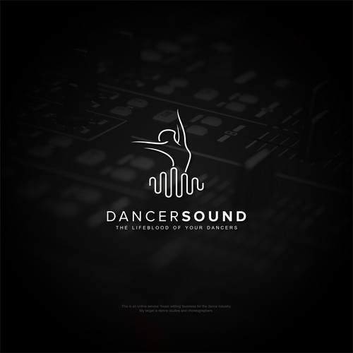 Create a powerfully poppin' edgy yet sophisticated logo for a website geared around dancers & music