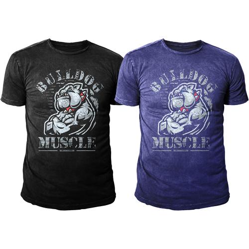 """Tshirt Design for """"BULLDOG GYMWEAR"""""""