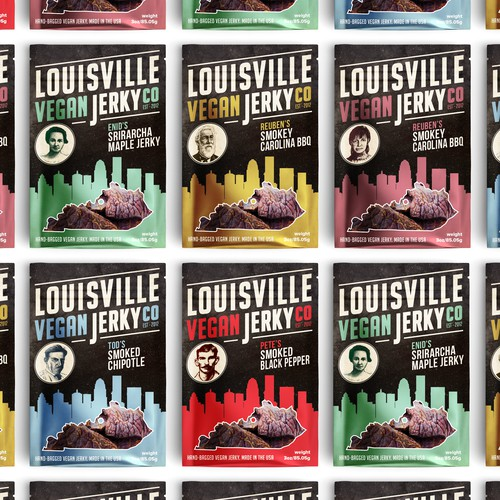 Refresh Louisville Vegan Jerky packaging