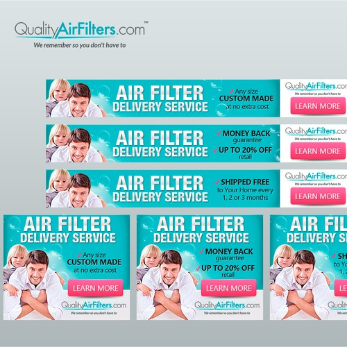 Banner ads for Air Filters shop