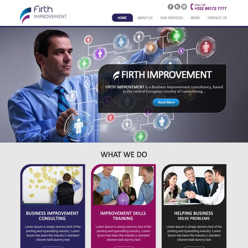 Web Page Design For Firth Management