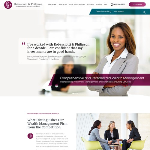 Landing Page for a Wealth Management Firm