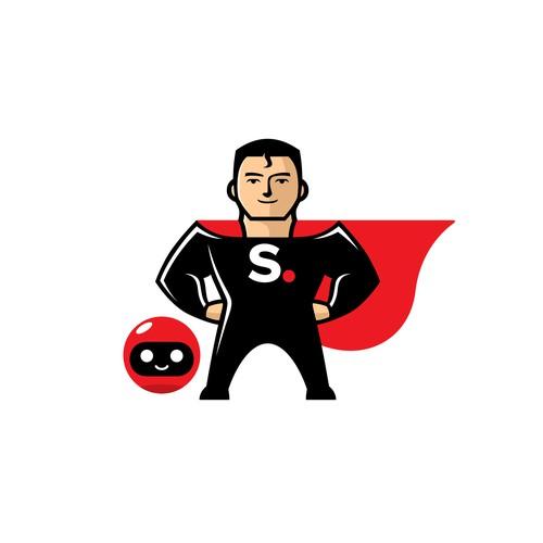 Superhero Mascot for Simplero
