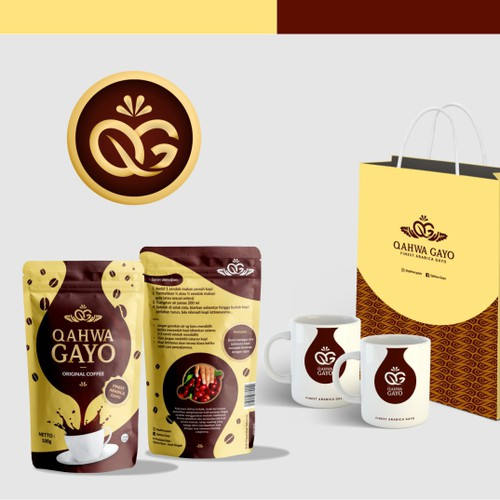 Coffee Product Logo and Product Label Design