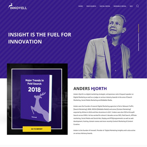 Home Page Concept for INNOVELL
