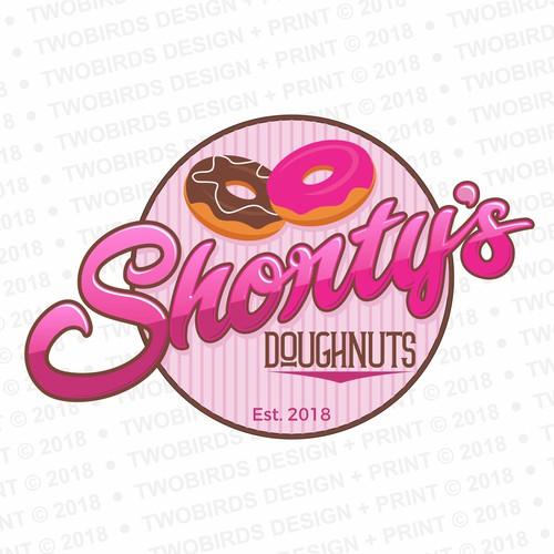 Retro-inspired logo for Donut Shop