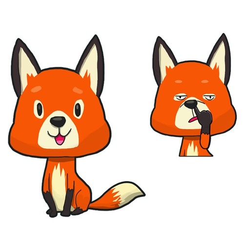 "CREATE A UNIQUE, FUNNY AND INTERESTING ""FOX"" STICKER PACK FOR USEIN A CHAT APP!"