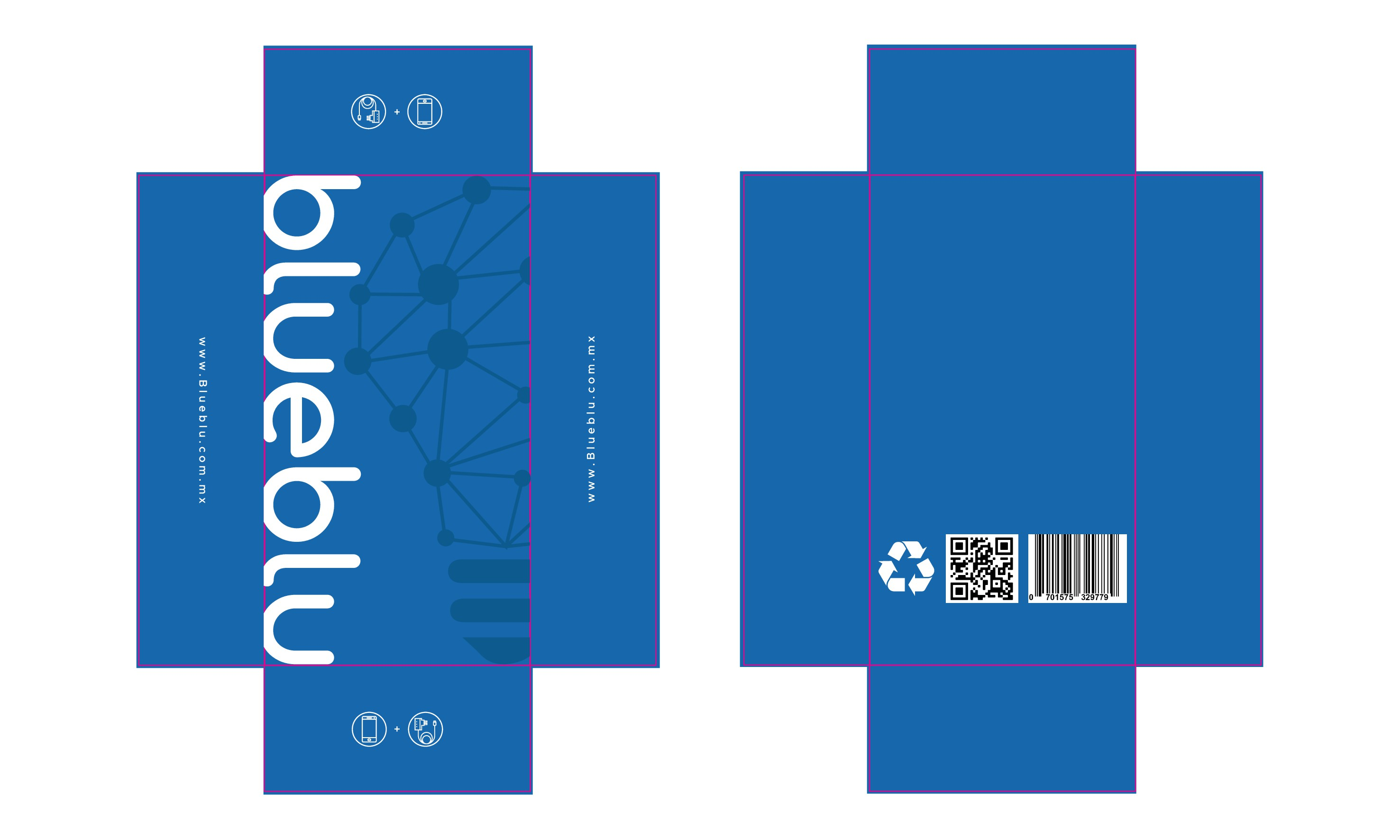Diseño de imagen blue box, empresa innovadora de comunicaciones