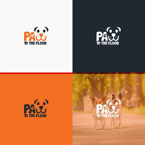 Logo for dog walking company