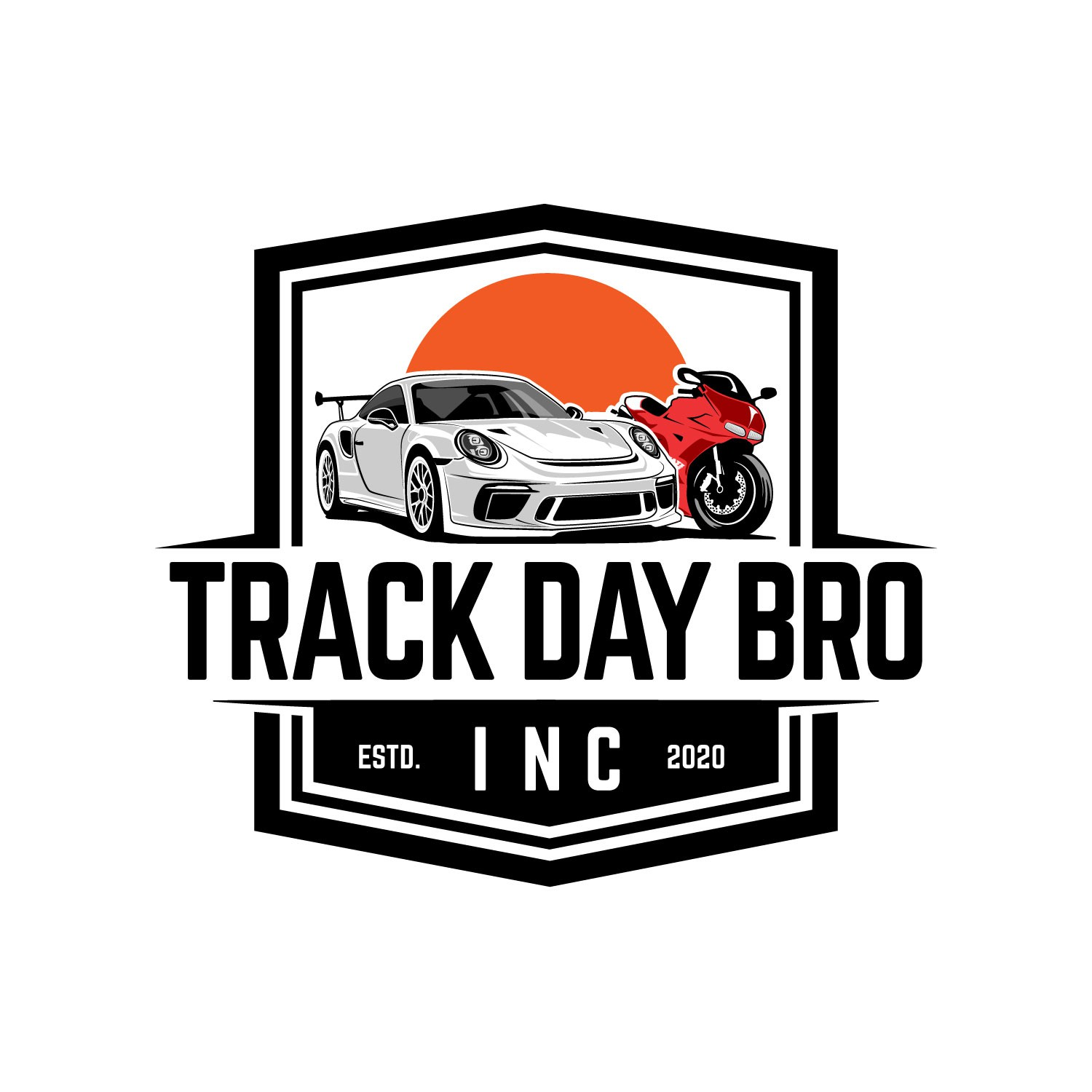 Logo for track day club where cars and motorcycle are what matters